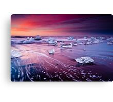 Sky Fire And Black Ice Canvas Print