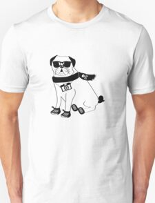 Hipster Pug - Cute Dog Cartoon Character - Puggle T-Shirt
