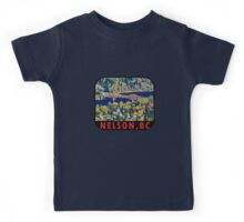 Nelson British Columbia Vintage Travel Decal Kids Tee