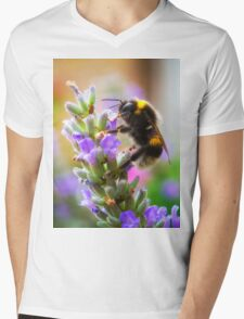 Humble Bumblebee Mens V-Neck T-Shirt