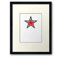 RED STAR with outline Command Framed Print
