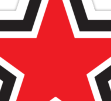 RED STAR with outline Command Sticker