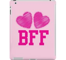 BFF with cute pink hearts Best Friends forever iPad Case/Skin
