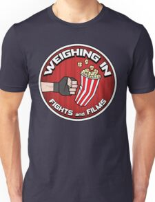 Weighing In: Fights and Films logo Unisex T-Shirt