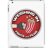 Weighing In: Fights and Films logo iPad Case/Skin