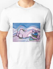 Abstract Reclining Male Nude T-Shirt