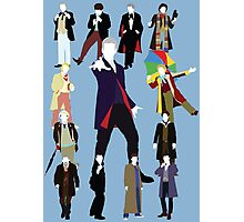 All Thirteen! (Version 2) - Doctor Who Photographic Print