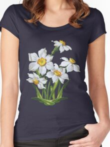 Narcis - daffodils Women's Fitted Scoop T-Shirt