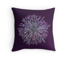 Purple Allium 2 Throw Pillow