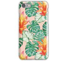 Gentle tropical peach iPhone Case/Skin