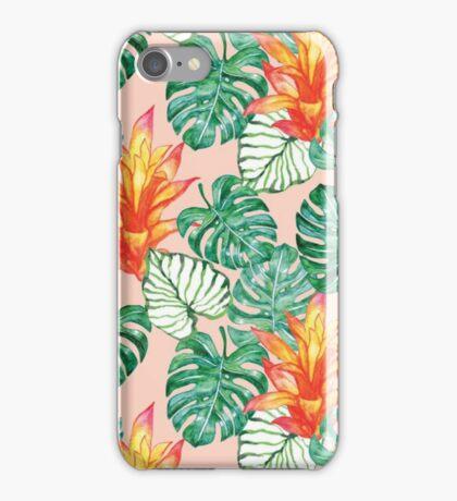 Gentle tropical peach iPhone Case/Skin