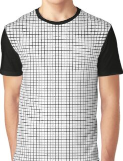 White and Black Waffle | Grid | Plaid Stripe Pattern Print Graphic T-Shirt