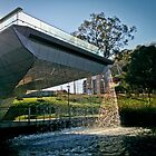 Footbridge Waterfall by Clintpix