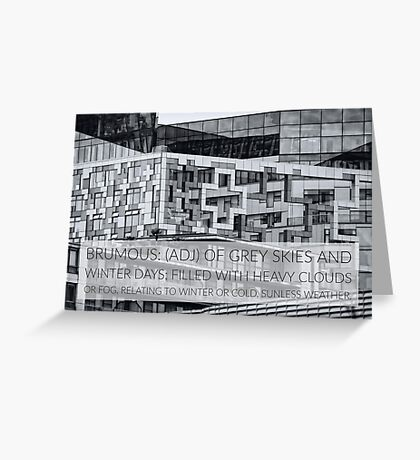 Brumous definition on photograph of the iconic Cube Birmingham UK Greeting Card