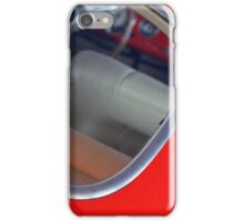 Vintage red car detail of interior seen from the back window iPhone Case/Skin