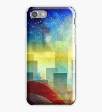 Minimalist, abstract colorful Urban design iPhone Case/Skin