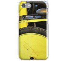 Detail of vintage yellow car wheels  iPhone Case/Skin