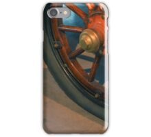 Vintage car wheel with wooden spikes.  iPhone Case/Skin