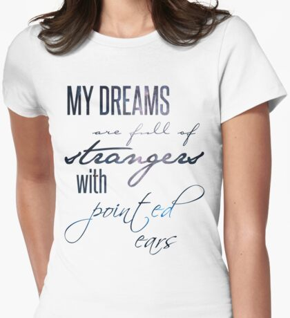 strangers with pointed ears Womens Fitted T-Shirt