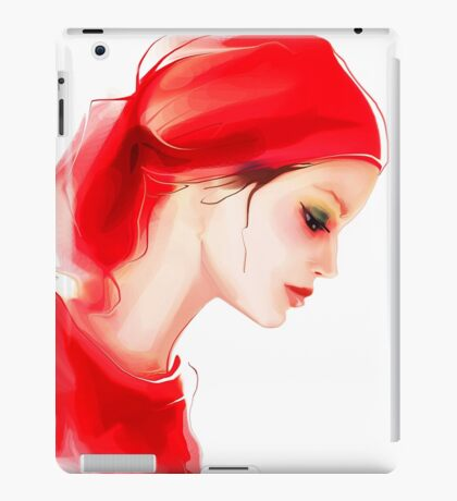 Fashion woman  portrait  iPad Case/Skin