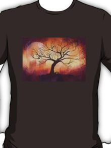 Halloween tree silhouette - digital design T-Shirt