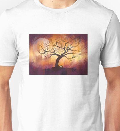 Halloween tree silhouette - digital design Unisex T-Shirt