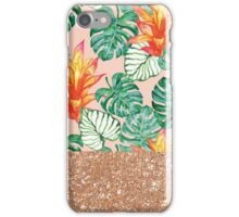 Peach tropical rose gold iPhone Case/Skin