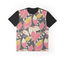 Seamless floral pattern with hand drawn leaves Graphic T-Shirt