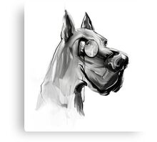 very clever dog Canvas Print