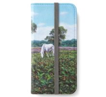 Horses and Heather in the New Forest iPhone Wallet/Case/Skin