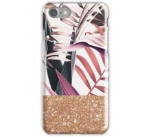 Magenta tropical rose gold iPhone Case/Skin