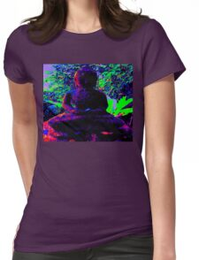 PEACEFUL BUDDHA Womens Fitted T-Shirt