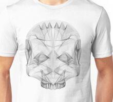 SKULL LINE ILLUSTRATION - HUMAN Unisex T-Shirt