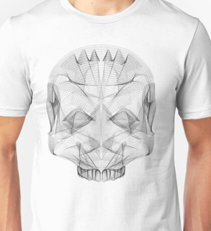 SKULL LINE ILLUSTRATION - HUMAN Unisex T-Shirt