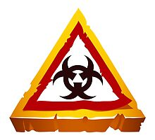 virus hazard sign by Voysla