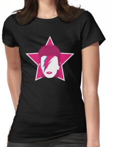 The Pink Starman Womens Fitted T-Shirt