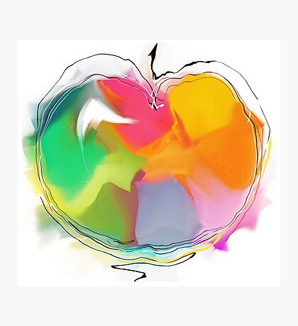 abstract apple Photographic Print