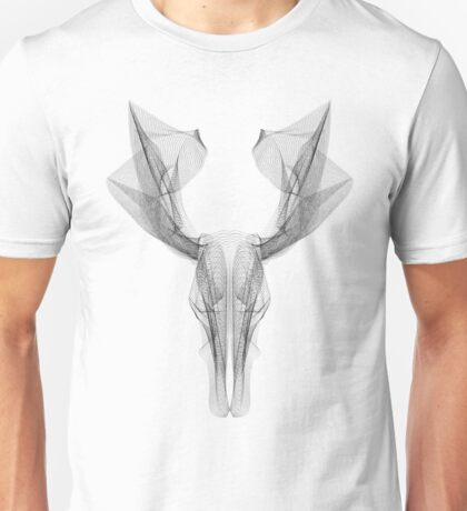 SKULL LINE ILLUSTRATION - DEER Unisex T-Shirt