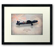 Avro Lancaster Bomber PA474 Framed Print