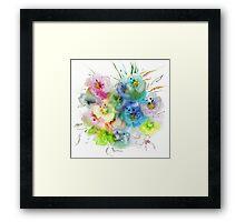 Flower composition Framed Print