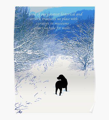 Treasures - Black Labrador  Poster