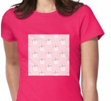 Pink Fluffy kitten heaven Womens Fitted T-Shirt