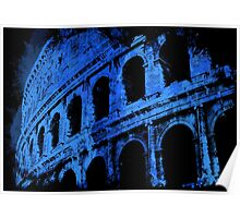 Rome - Colosseum in Blue Poster