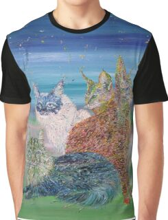 POKER OF CATS Graphic T-Shirt