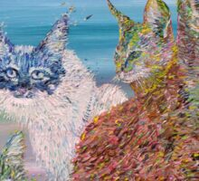 POKER OF CATS Sticker