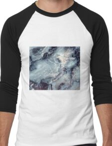 Blue marble Men's Baseball ¾ T-Shirt