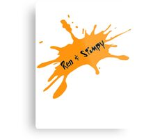 Ren and Stimpy Splatter Metal Print