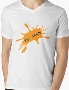 Ren and Stimpy Splatter Mens V-Neck T-Shirt