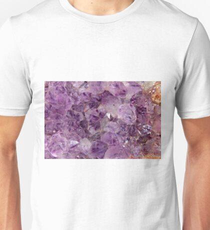Amethyst Crystals. Unisex T-Shirt