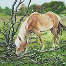 Horse with burnt tree by martyee